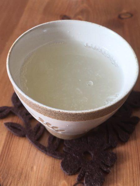 業務スーパーのおろししょうがで作った生姜湯