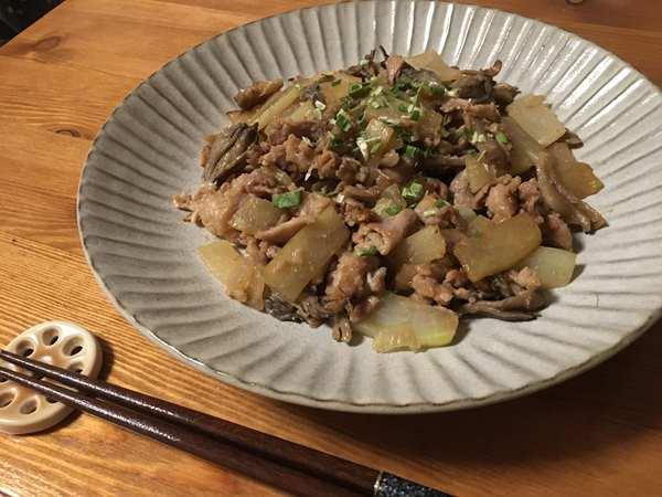 豚肉と大根の味噌生姜炒め