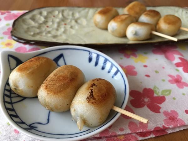 業務スーパーのごまだれ餅で作った焼き団子