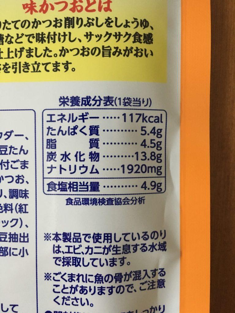 さけ味ふりかけのカロリーを含む成分表