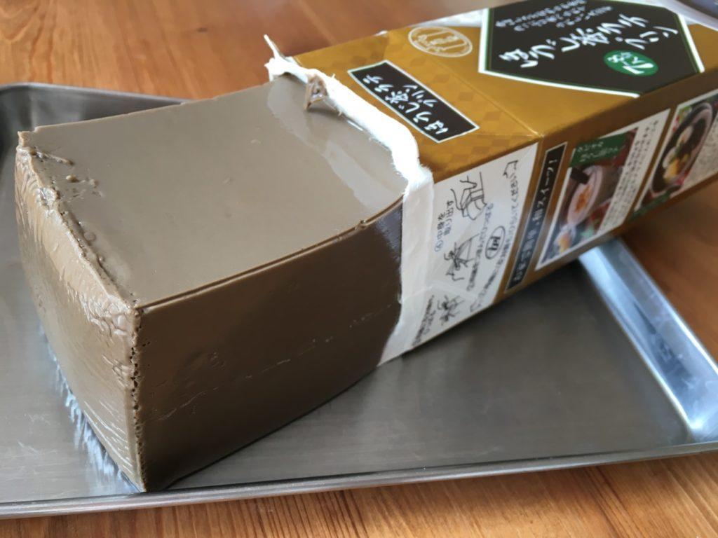 パッケージから出したほうじ茶ラテプリン