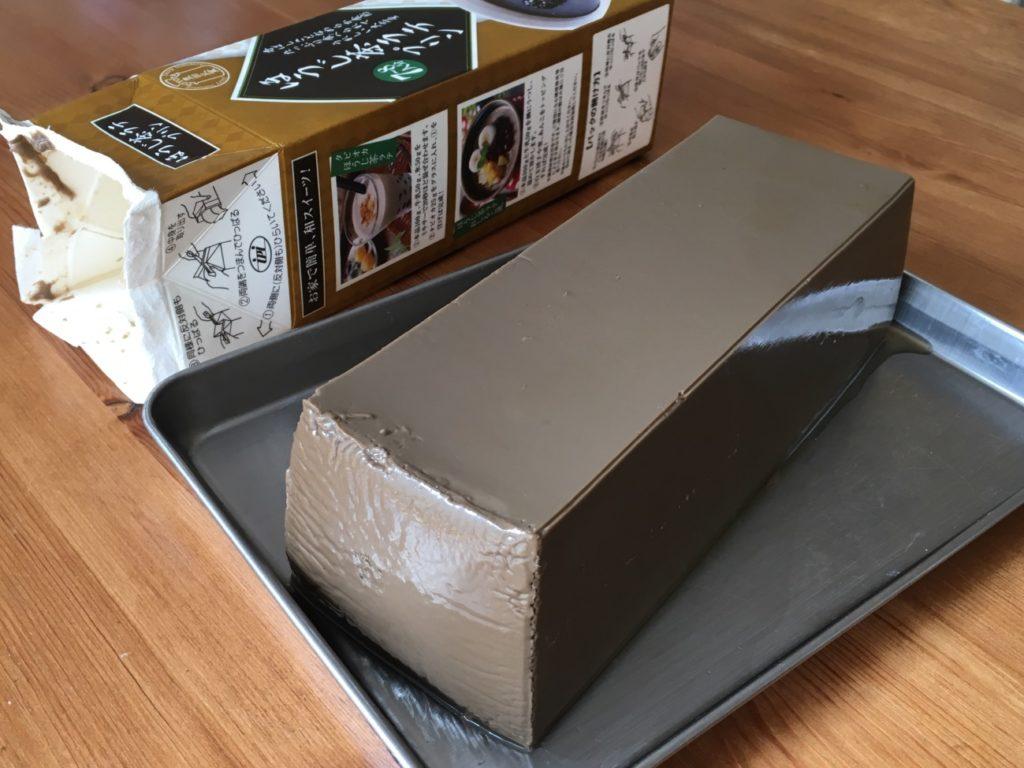 パッケージから出したほうじ茶ラテプリンの全容