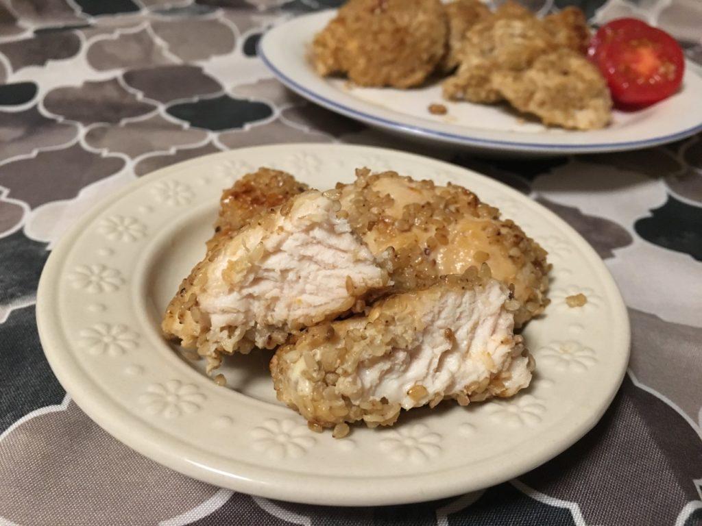 鶏胸肉のごまソテーの断面