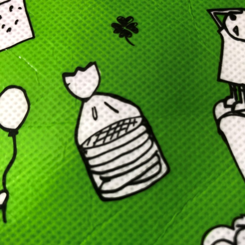 業務スーパーのエコバッグに書かれてるストロープワッフルのイラスト
