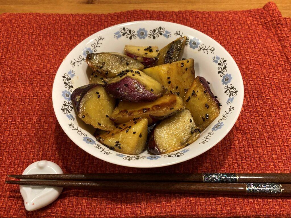 業務スーパーのメガマシュマロを使ったマシュマロ味の大学芋