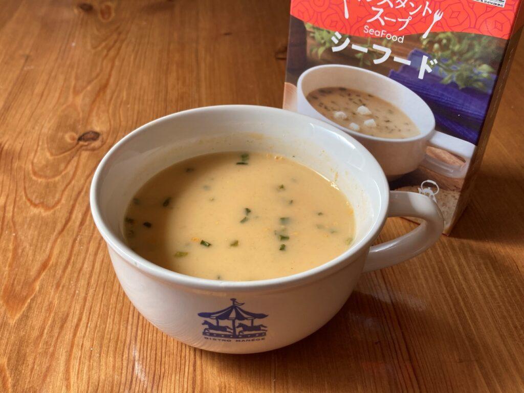 お湯で簡単に作れる業務スーパーのインスタントスープ・シーフード