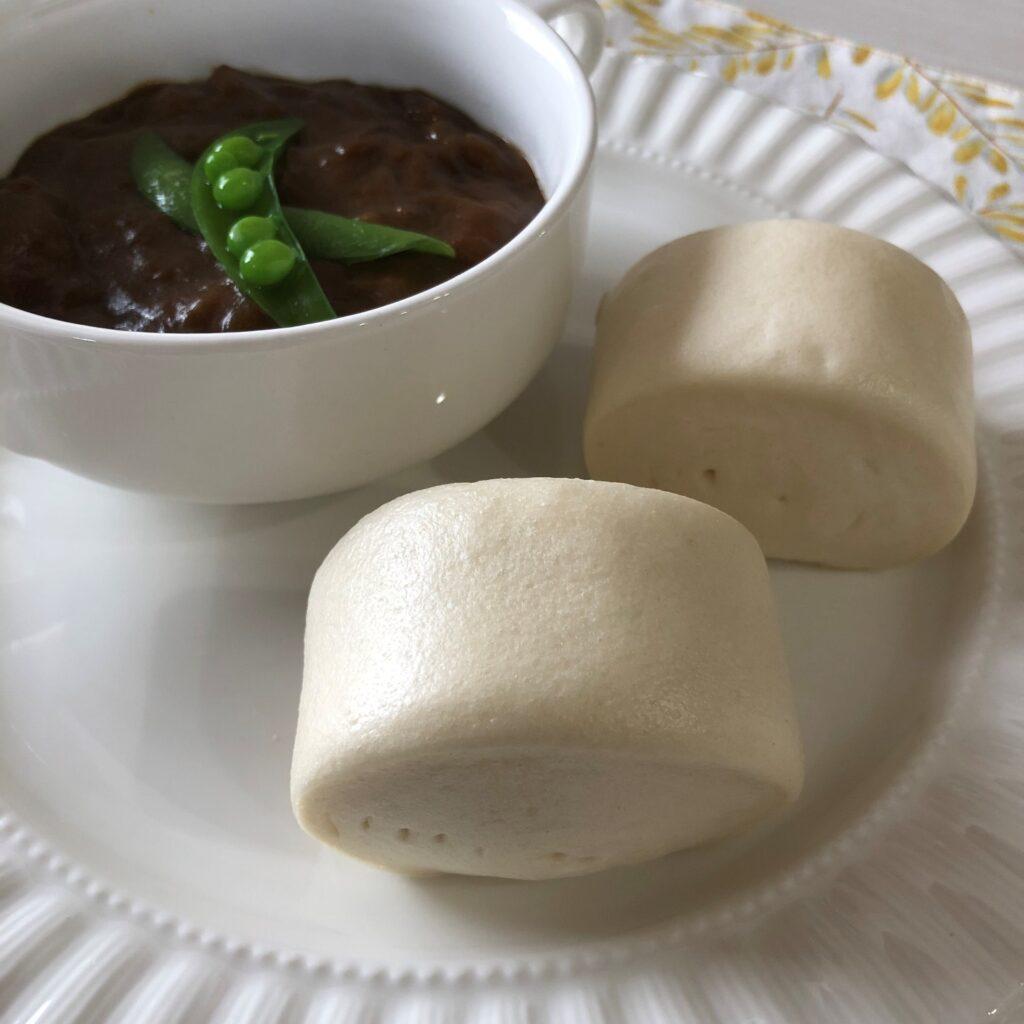 カレーと中華小麦パン